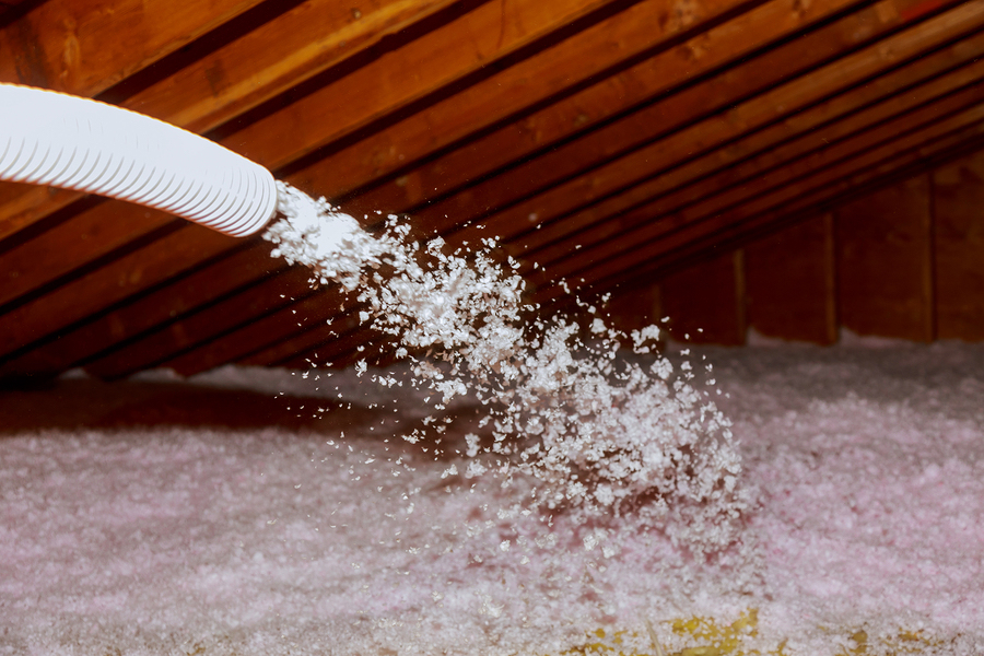 Spraying-Blown-Fiberglass-Insulation