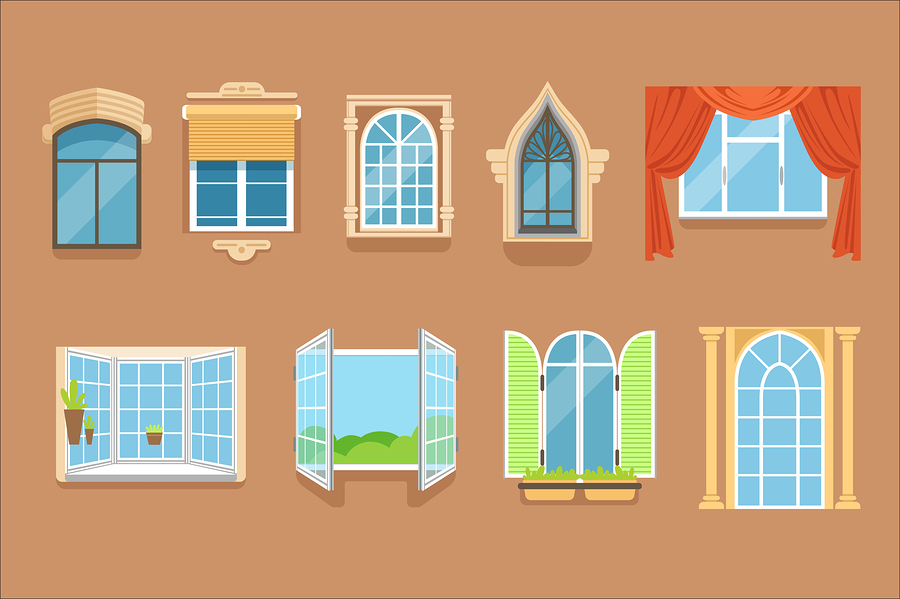 different windows
